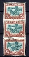 South Africa 1949 2s 6d fine used strip of 3 SG121 WS20510