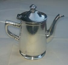 Grand Silver Co Wear Brite Nickel Silver Silver Soldered Creamer Teapot Pitcher
