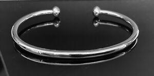 Solid 925 Sterling Silver Open Mens Torque Bangle Bracelet UK Seller RRP £70+