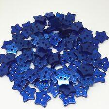 20 bouton 14mm étoile paillette bleu foncé couture scrapbooking créatif mercerie