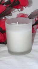 24 White Wax Wedding Table Room Balconey Decoration Votive Candle Frosted Glass