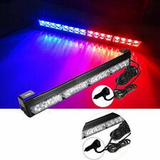 16 LED Emergency Warning Light Bar Flashing Truck Police Strobe Lamp Blue/Red
