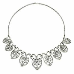 Graduated Motif Sim Diamond Necklace for Women Indo-Persian Inspired Jewelry New