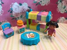 DORA THE EXPLORER TALKING DOLL HOUSE FURNITURE DORA BEDROOM BUNK BED NIGHT STAND