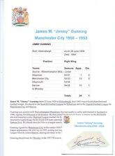 Jimmy Gunning Manchester City 1950-1953 rara mano originale firmato TAGLIO / CARD