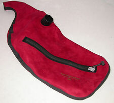 Ross Red Suede Zipper Pipe Bag for Bagpipes Small Extended Small Medium Large