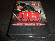 MISSION:IMPOSSIBLE 4-Movie Set-MI 1 to 3 &  GHOST PROTOCOL-Spanish subtitles
