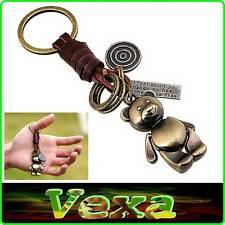 New Key-ring KOALA BEAR AUSTRALIA Stylish Keychain Brass Leather Surf-er UK KR04