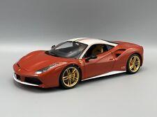 Burago Ferrari 488 GTB, rot/weiss, The Lauda, 70 Jahre  1:18 Bburago  *NEW*