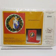 Enchanted Unicorn Cross Stitch Kit Greeting Card 1982 Bushee Creative Circle