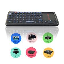 Mini Wireless Keyboard Touchpad 2.4G Backlit LED Laser Universal Kj