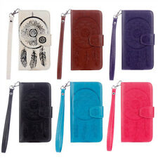 Leather Flip Magnetic Case Wallet Gel Cover For Samsung Galaxy S4 S5 S6 S7 Edge