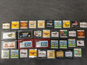 34 items Mario Pokemon Final Fantasy Kirby Mega man Japanese Lot DS GBA Gameboy