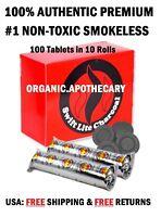 #1 BEST LARGE 40mm Charcoal Tablets Incense Hookah 1 2 3 4 5 6 10 Shisha 100 Pc