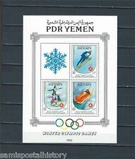 Middle East - Yemen PDR mnh stamp sheet - Winter Sports - Skiing - #1