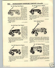 1936 PAPER AD Radio Flyer Speedy Streamliner Royal Scot Coaster Wagon Croquet