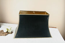 Maison Jansen Fabric black gold shade for eagle / pharao table lamp 1970's