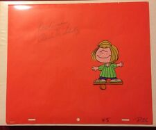Peanuts Charlie Brown Original Production Animation Cel Signed Charles M Schulz