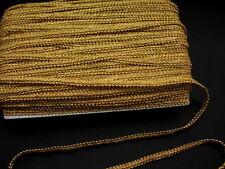 "GB01-5 3/8"" Metallic Gold Gimp Braid Lace Edge Designer Trim & Sewing 7yards"