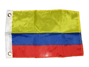"""12x18 12""""x18"""" Country of Colombia Boat Motorcycle Premium Quality Flag Grommets"""