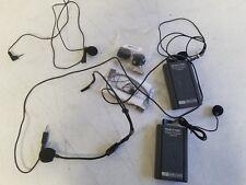 Wireless Microphone Lot Mics Transmitters Shure AmpliVox Plantronics HW505a H-10