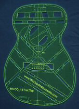 """Acoustic MS OO 14 Fret 24.9"""" Scale Top Guitar Template"""