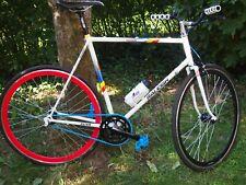 FIXIE RETRO RALEIGH FLYER RH 60  Vintage Rennrad Raleigh weiss blau schwarz rot