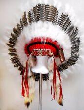 Native American White Spirit Eagle War Bonnet Feather Headdress