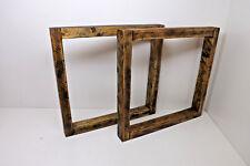 2 x Tischkufen Massivholz Tischbeine Tischuntergestell Tischgestell 74 x 72 cm