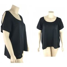 Torrid Top 3 Women Plus 3X Light Knit Cold Shoulder Cap Sleeve Beaded Pocket