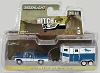 GreenLight 1972 Ford F-100 and Horse Trailer Hitch & Tow #32090 Blue/White 2016
