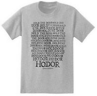 Game Of Thrones HODOR HOLD THE DOOR T-Shirt Heather Grey NWT Licensed & Official