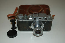 Zorki 1 Type C Vintage Soviet Rangefinder Camera With Case & Cap 1952. No.351636
