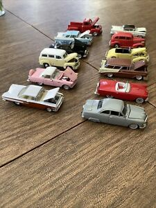 american flyer type vinage cars 1:64 scale 12 car lot used