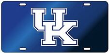 UK Kentucky Wildcats Acrylic / Reflective Decal License Plate / Car Tag UK Blue
