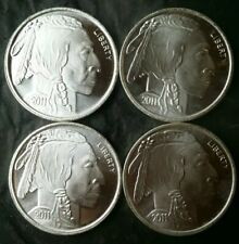Lot of Four 2011 1oz Silver Buffalo Rounds