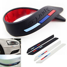 2x Rubber Front Rear Bumper Scratch Protector Strip Corner Guard Sticker Strips