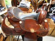 "16"" Stallion Tack Burgandy Leather Western Show Trail Pleasure Saddle 45% off!!"