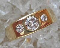 Damen Finger Ring mit Brillant Diamant Brillanten Diamond Solitär in 750er Gold