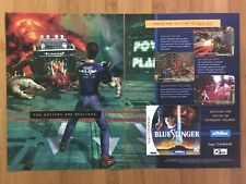 Blue Stinger Sega Dreamcast 1999 Vintage Poster Ad Print Art Horror Official