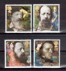 GREAT BRITAIN 1992 Alfred Lord Tennyson set used