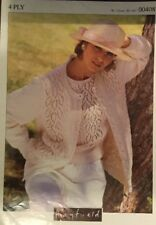"Hayfield 00408  4 Ply Knitting Pattern Ladies Cardigan Short Sleeve Top  30/44"""