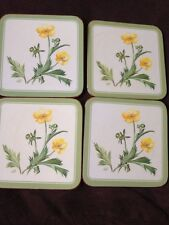Set of  4 Pimpernel Buttercups  Coasters