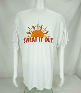 VTG Coolmax Sweat It Out T-Shirt Made in USA White Men's 3X-Large