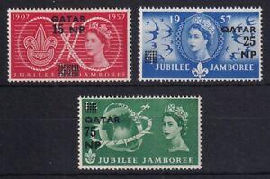 QATAR 1957 Scouting Jubilee Jamboree Set MM