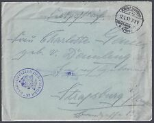 GERMANY 1917 WWI AIR FORCE STABSOFFIZER DER FLIEGER 9 1X FIELD POST COVER W/LETT