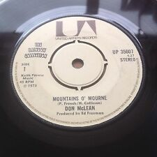 Don McLean Mountains O' Mourne / Bill Cheatham Old Joe Clarke (United UP 35607)