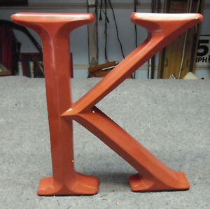 """Alphabet 12"""" Red Acrylic Letter 'K' Decorative for Wall Table Will Stand Alone"""