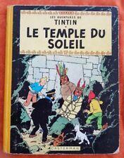 Hergé Tintin LE TEMPLE DU SOLEIL. B13.  Edition de 1955. BE (Voir les scans)