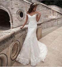 White Ivory Wedding dress Bridal dress Gown Custom Size 6 8 10 12 14 16 18 20+